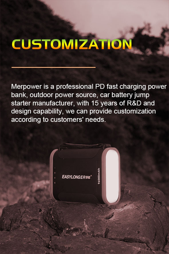 merpower power bank customization
