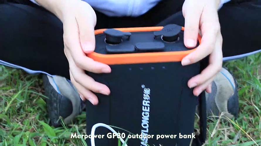 Rechargeable Portable Power Supply For Camping GP30 Application Video