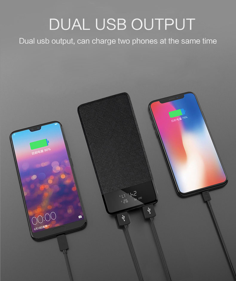 USB-C PD Fast-charging Power bank for iPhones/Androids with Lightning Input