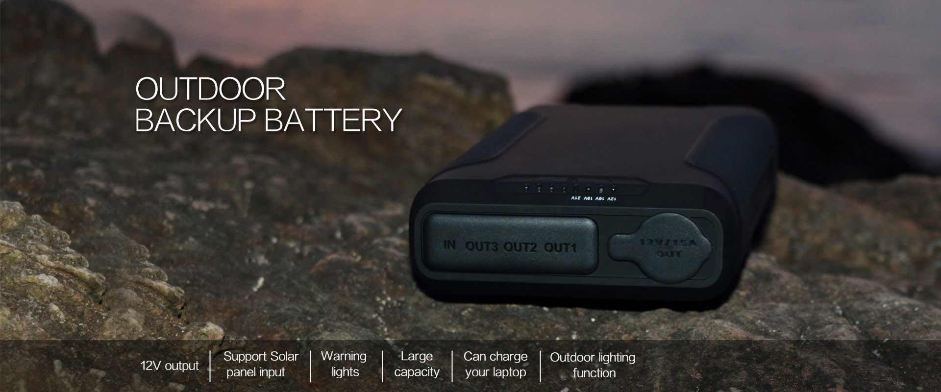 12v outdoor backup battery