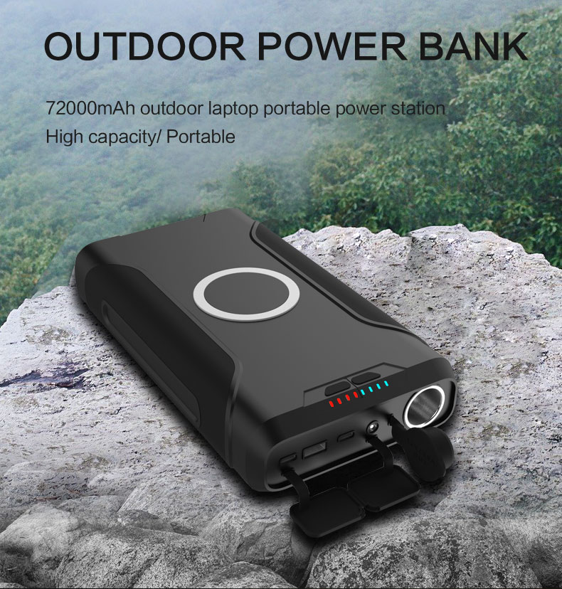 Hallowe'en emergency mobile power bank 72000mah large capacity power bank 60w pd 3.0 outdoor charging station with 12v dc output